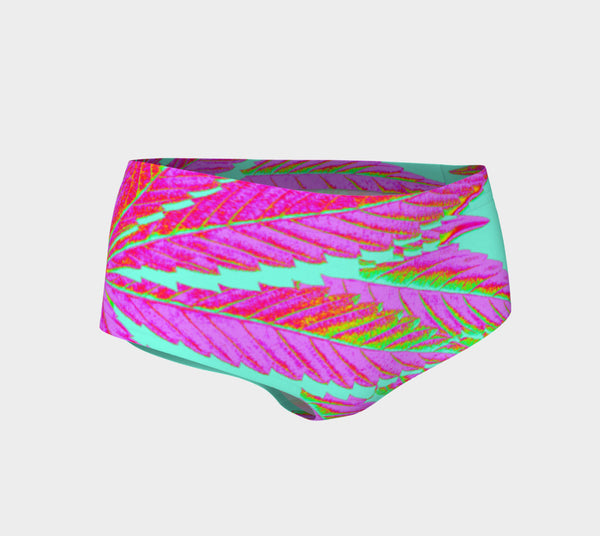 TROPI-CANNA LEAF // PERFORMANCE MINI SHORTS