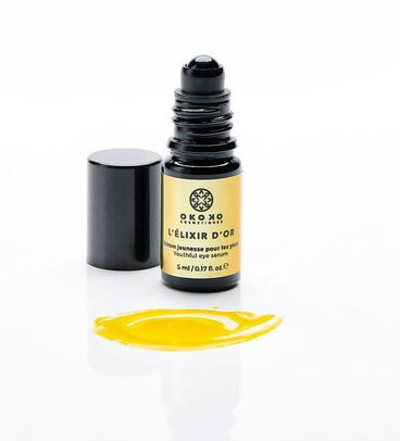 Load image into Gallery viewer, L'ÉLIXIR D'OR, (Youthful Eye Serum for Puffy Eyes, Fine Lines & Dark Circles)