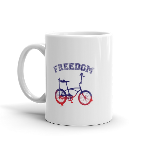 FREEDOM White Glossy Mug, 11oz or 15 oz