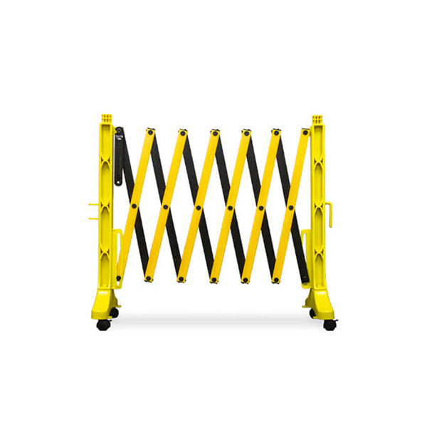 11.5ft Accordion Expanding Barricade - Yellow/Black
