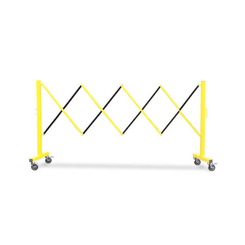 11ft Metal Expanding Barricade - Yellow/Black