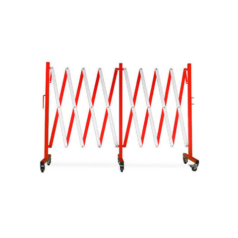 16ft Metal Expanding Barricade - Red