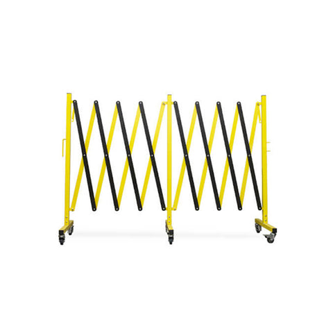 16ft Metal Expanding Barricade - Yellow/Black