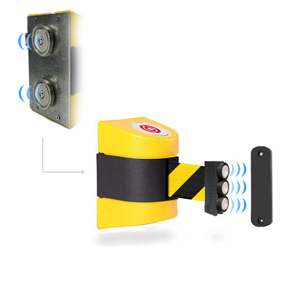 Magnetic WallPro 400: 15ft Wall Mounted Retractable Belt Barrier