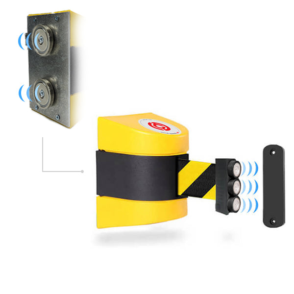 Magnetic WallPro 450: 20-35ft Wall Mounted Retractable Belt Barrier