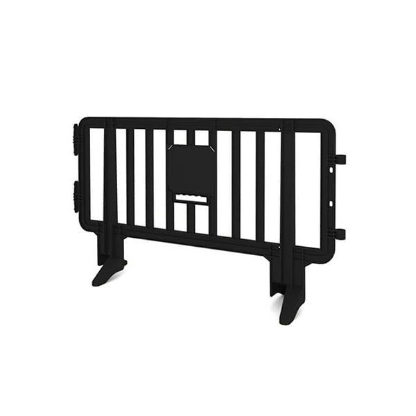 6.5ft Plastic Barricade - Black