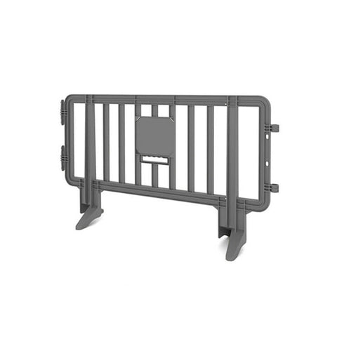 6.5ft Plastic Barricade - Gray