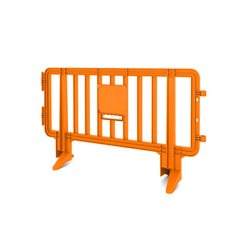 6.5ft Plastic Barricade - Orange