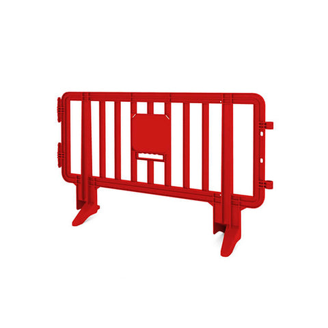 6.5ft Plastic Barricade - Red