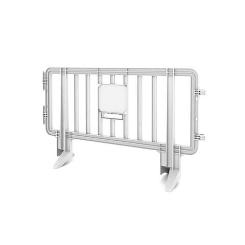 6.5ft Plastic Barricade - White