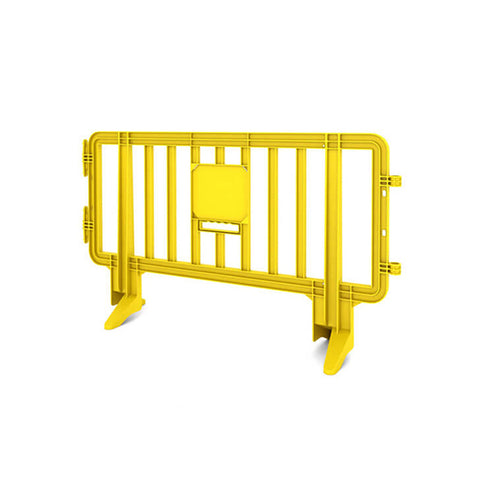 6.5ft Plastic Barricade - Yellow