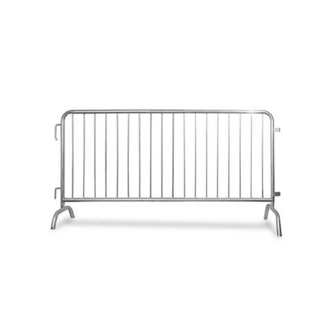 6.5ft Heavy Duty Steel Barricade Galvanized - Crowd Control