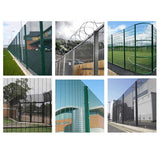 Easy Installation 358 Security Fence Anti Corrosion 3mm-6mm Wire Diameter