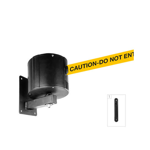 WallPro 750: 55-75ft Retractable Belt Barrier Wall Mounted - Caution Do Not Enter