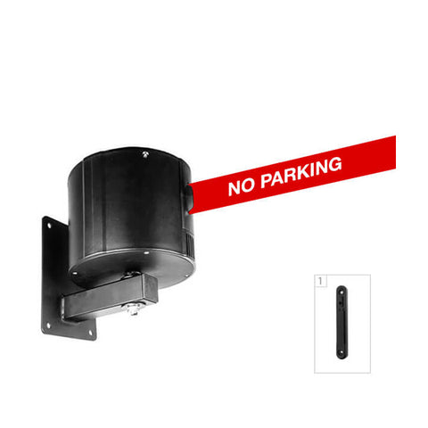 WallPro 750: 55-75ft Retractable Belt Barrier Wall Mounted - No Parking