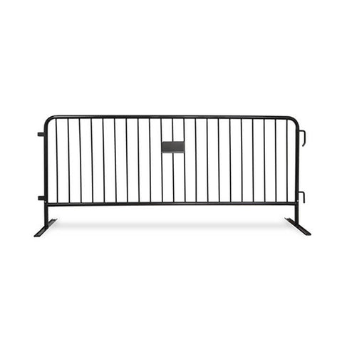 8.5ft Heavy Duty Steel Barricade - Black