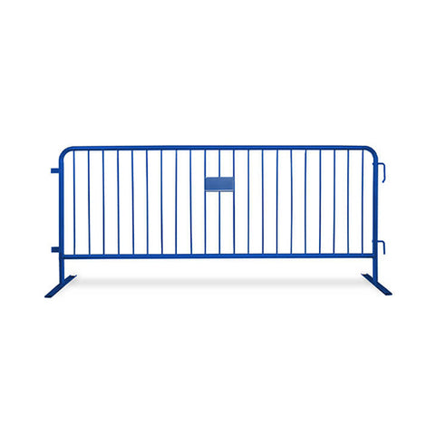 8.5ft Heavy Duty Steel Barricade - Blue