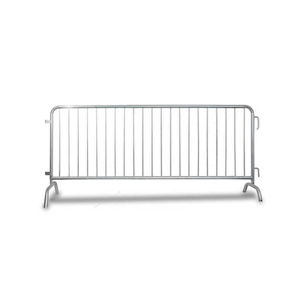 8.5ft Steel Barricade Heavy Duty Galvanized - Crowd Control