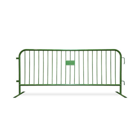 8.5ft Heavy Duty Steel Barricade - Green