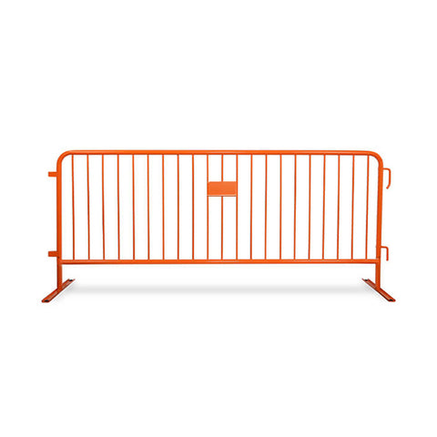 8.5ft Heavy Duty Steel Barricade - Orange