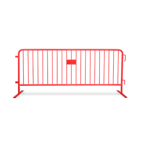 8.5ft Heavy Duty Steel Barricade - Red
