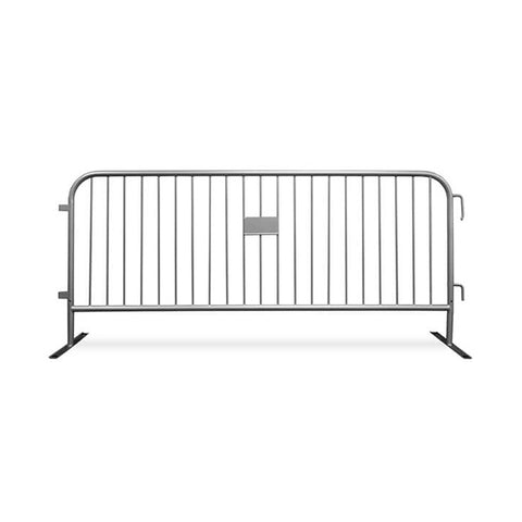 8.5ft Heavy Duty Steel Barricade - Silver