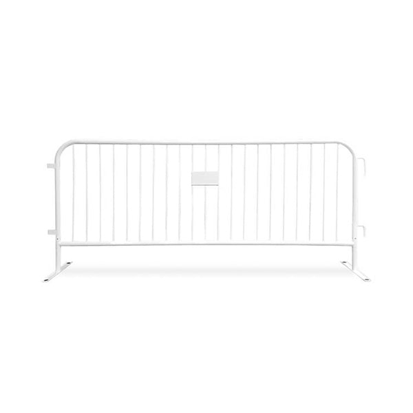 8.5ft Heavy Duty Steel Barricade - White