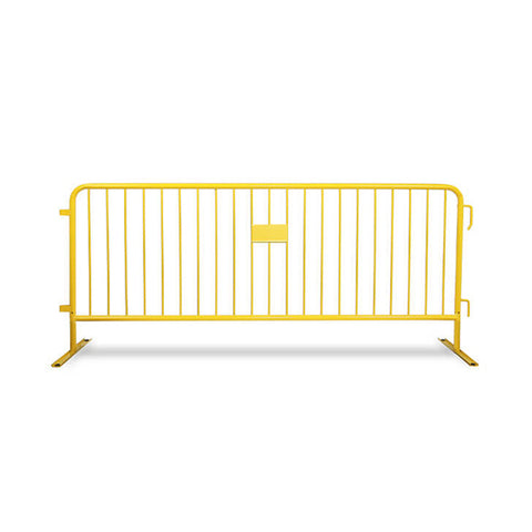 8.5ft Heavy Duty Steel Barricade - Yellow