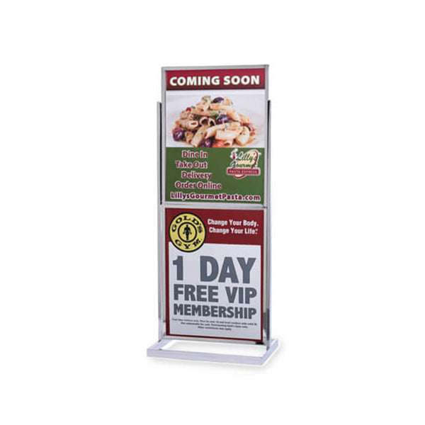 Double Frame Poster Stand 22 x 28