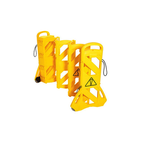 13ft Mobile Expandable Barrier - Yellow