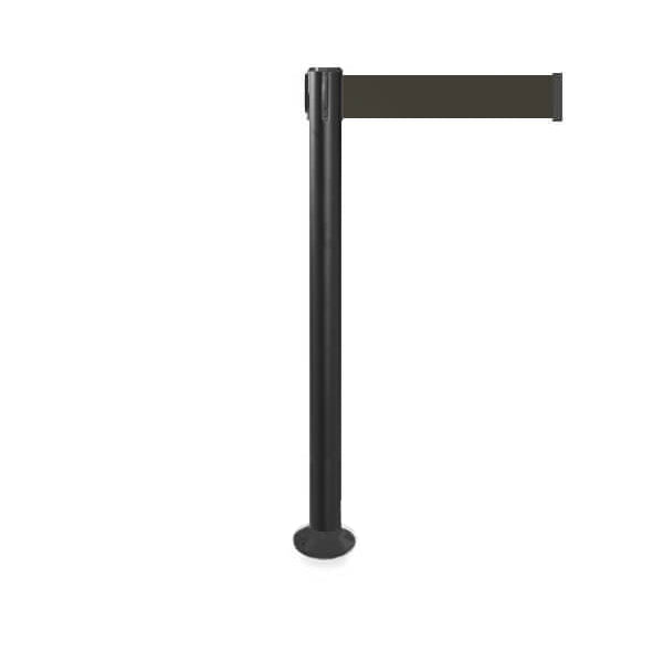 QueuePro 250 Fixed Xtra: 11ft Premium Retractable Belt Barrier (Black)