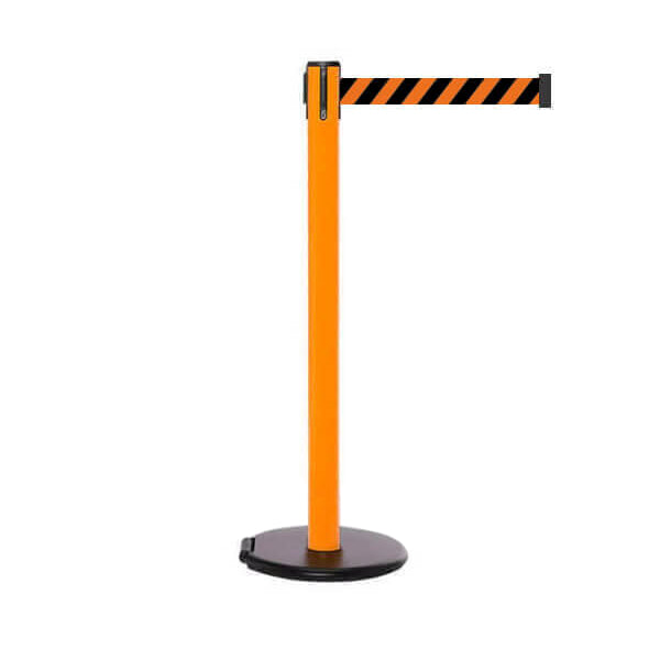 RollerSafety 250: 11-13ft Easy Deployment Retractable Belt Barrier (Orange)