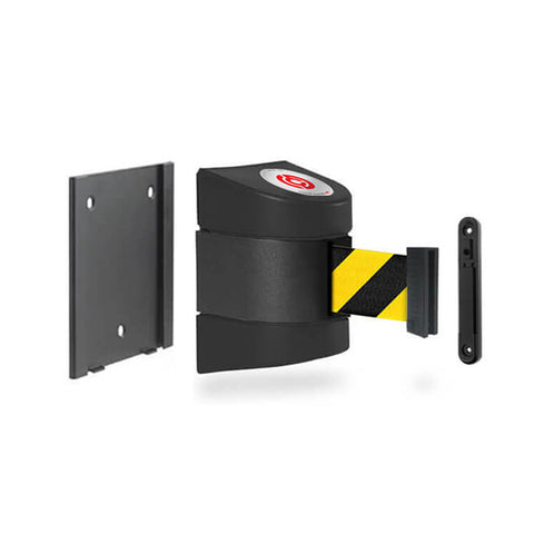 Removable WallPro 400: 13-15ft Wall Mounted Retractable Belt Barrier