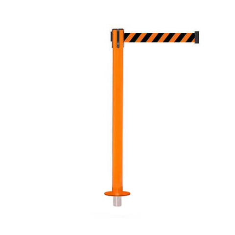 SafetyPro 250 Removeable: 11-13ft Premium Safety Retractable Belt Barrier (Orange)