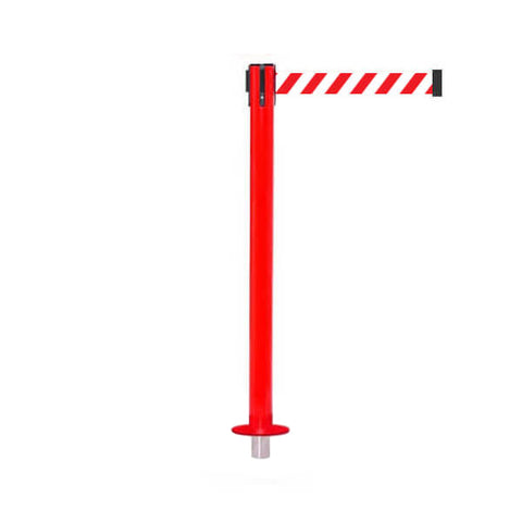 SafetyPro 250 Removeable: 11-13ft Premium Safety Retractable Belt Barrier (Red)
