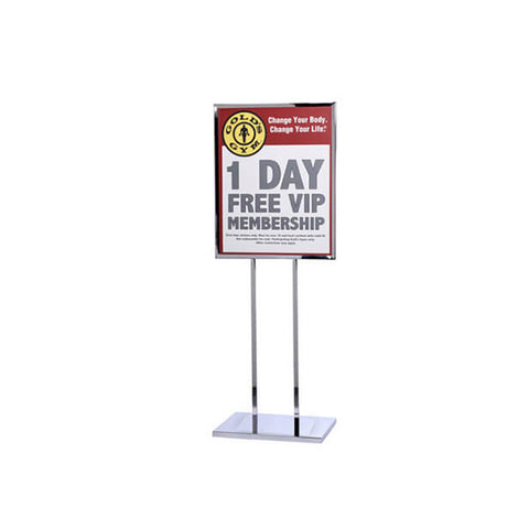 Single Frame Poster Stand Flat Base 22 x 28