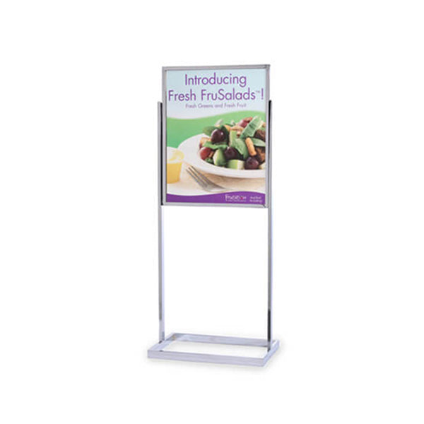 Single Frame Poster Stand Squared Base 22 x 28