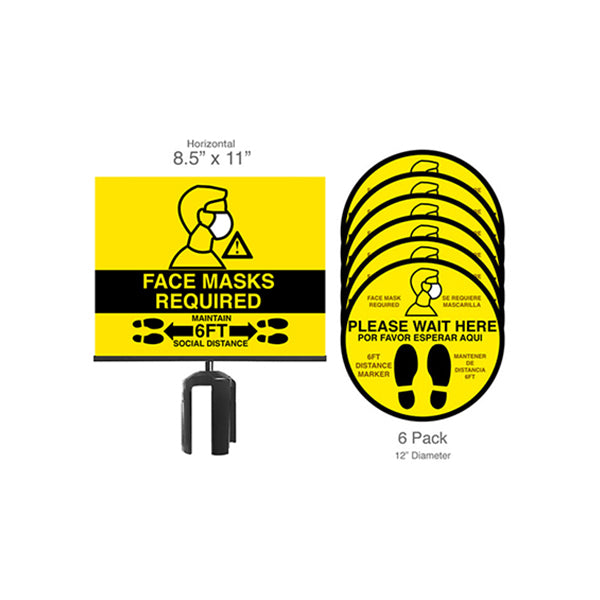Sign Holder/Masks-Required Bundle