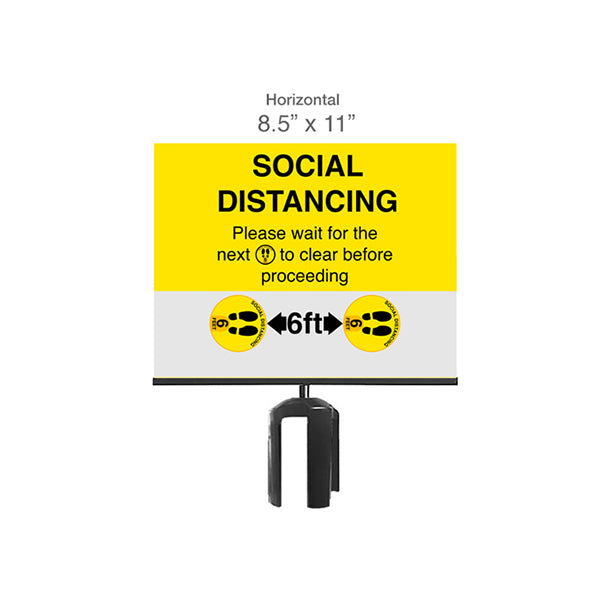 PaperSign Holder, SOCIAL DISTANCING Sign
