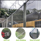 Custom Color 358 Security Fence Eco Friendly Professional Structure Designed