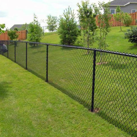 PVC Coated Anti Climb Chain Link Fence , Zig Zag Pattern Building Site Fencing