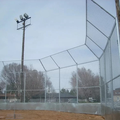 Metal Chain Link Security Fence For Crowd Control 1.8m Length PVC Coated Type