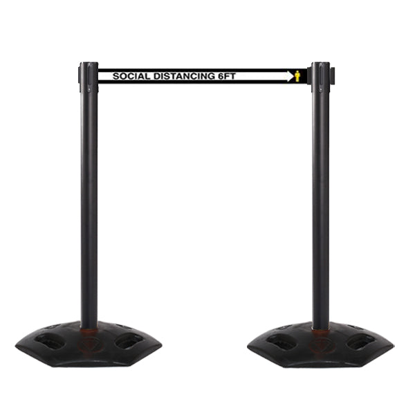 13ft Outdoor Heavy Duty Social Distancing Stanchion (WeatherMaster 250)