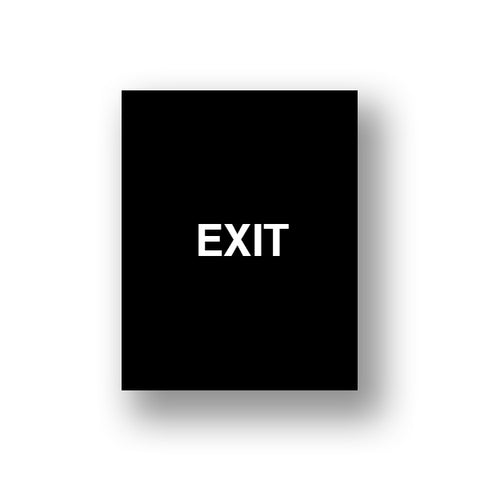 Black Exit/Exit Please Do Not Enter (Double Sided Sign Insert)
