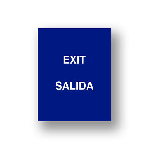 Blue Exit/Salida (Double Sided Sign Insert)