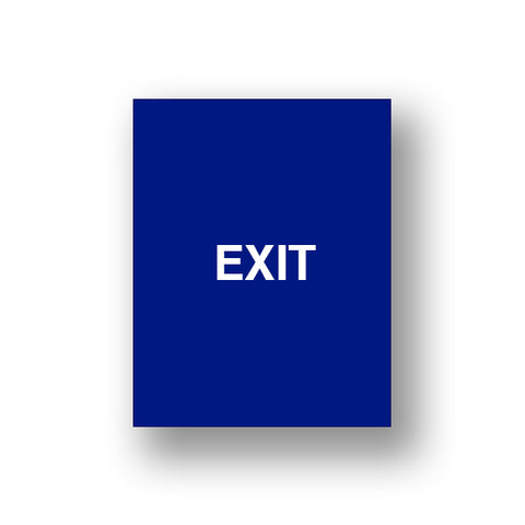 Blue Exit/Exit Please Do Not Enter (Double Sided Sign Insert)