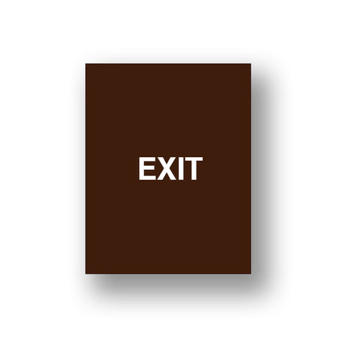 Brown Exit/Exit Please Do Not Enter (Double Sided Sign Insert)