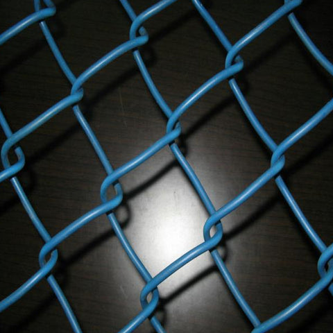 Green Pvc Coated Chain Link Mesh For Sports Venues , 50x50mm Chain Wire Fencing
