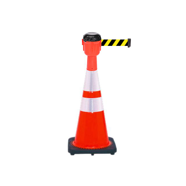 Bundle of Reflective 28 inch Traffic Cone + 15ft ConePro600 (YB Belt)
