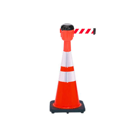 Bundle of Reflective 28 inch Traffic Cone + 15ft ConePro600 (RW Belt)